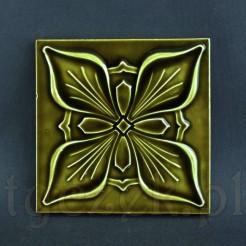 Znakomity ornament secesyjny w formie kafla ceramicznego