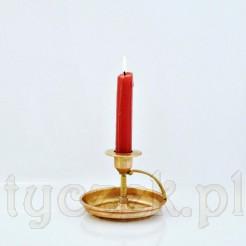 Oryginalny świecznik do przenoszenia - z mosiądzu