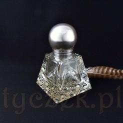 Luksusowy kałamarz ze srebra i kryształu