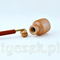 Gliniany pojemniczek do przechowywania tuszu lub atramentu
