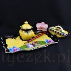 Luksusowy kałamarz na damskie biurko z porcelany SUHL