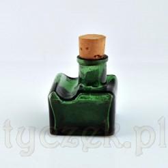 Stary kałamarz z zielonego szkła