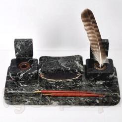 gabinetowy kałamarz z marmuru na biurko