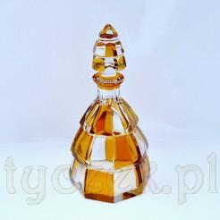 Bajkowa kryształowa karafka w kolorze miodowym