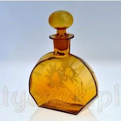 ART DECO Kolekcjonerska karafka ze szkła miodowego