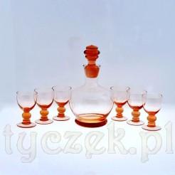 szklana karafka do nalewki z kieliszkami