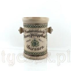 Zabytkowy słój na tabakę z ceramiki końca XIX wieku