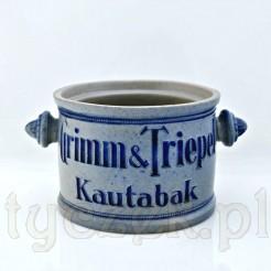 Kolekcjonerski pojemnik na tabakę z ceramiki