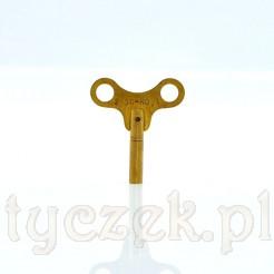 stylowy klucz do zegarów z mosiądzu