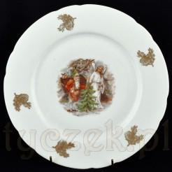 Koenigszelt śląski talerz z bożonarodzeniowym motywem
