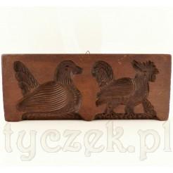Kogut i kaczka drewniana forma na piernik