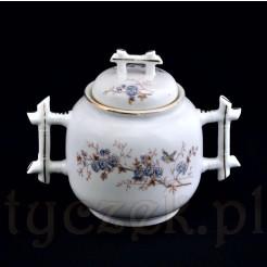 Ekskluzywna porcelanowa cukiernica z dawnej Francji XIX w