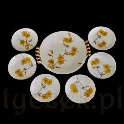 Wyjątkowy komplet porcelanowy 6+1 Sorau