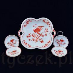 Przepiękny porcelanowy zestaw do konfitur