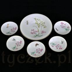 porcelanowy komplet do konfitury