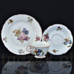 Porcelanowy komplecik śniadaniowy z początku XX wieku
