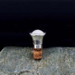 Piękny srebrzony powierzchniowo korek do karafki i butelki