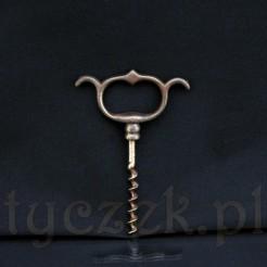 Zabytkowy żeliwny korkociąg o długości 12 cm