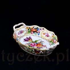 Luksusowy eksponat ze szlachetnej porcelany zabytkowej