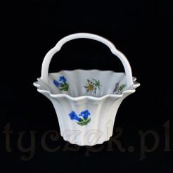 Piękny koszyczek ze szlachetnej porcelany