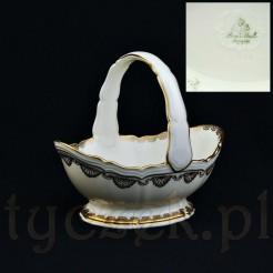 Ekskluzywny koszyczek z markowej wytwórni porcelany Rosenthal w Selb