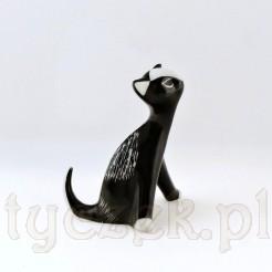 Kolekcjonerska figurka kota z II połowy XX wieku