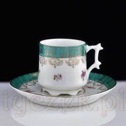 Mocca z przełomu XIX i XX wieku - porcelana KPM