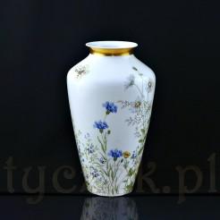 Wysoki wazon z białej porcelany w typie podłogowym