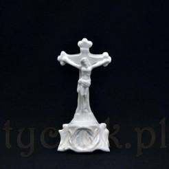 XIX wieczny krucyfiks z porcelany