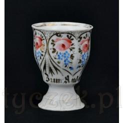 Porcelanowy kubek do kakao - XIX wiek