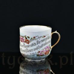 XIX wieczny unikat z porcelany dla wąsatego Gentlemana