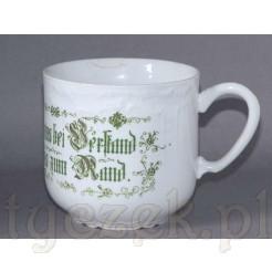 zabytkowy kubek na kawę z XIX wieku z dawnej porcelany