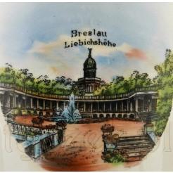 Breslau Liebichshohe - widok na starym kuflu do piwa