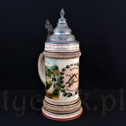 Rewelacyjny kufel cechowy z początku XX wieku