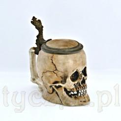 Kolekcjoenrski kufel porcelanowy w postaci czaszki. Prawdziwy unikat