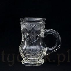 Zabytek z XIX wieku! Kufel kryształowy niezwykle pięknie zdobiony