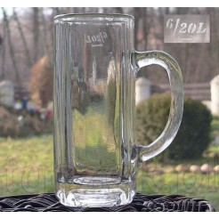 Zabytkowy kufel do piwa z sygnowanego szkła