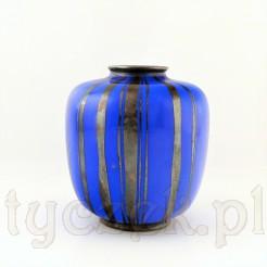 Intensywnie niebieski porcelanowy wazon