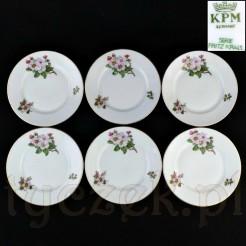 Kolekcjonerski zestaw deserowych talerzy KPM