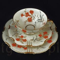 Luksusowy okaz SORAU - trio w kwiaty pomarańczowe