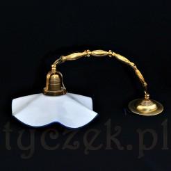 Wyjątkowa pięknie zachowana wisząca lampa
