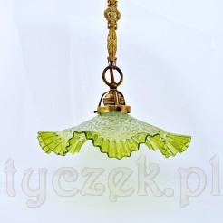 Przepiękny falbankowy klosz lampy
