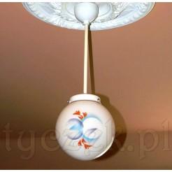 Lampa Art Deco - malowana kula