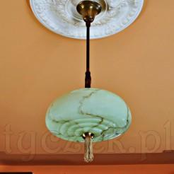 Dekoracyjna lampa z zielono-pistacjowym marmurkiem