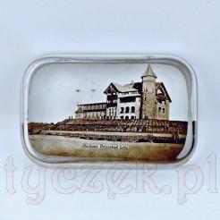 """Szklany przycisk z widokiem """"Kurhaus Ostseebad Leba"""""""