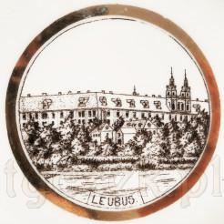 Zabytkowy suwenir Leubus na porcelanie KPM