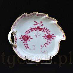 Porcelanowa patera w kształcie listka