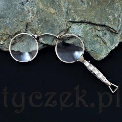 kolekcjonerskie lornion w srebrnej oprawie