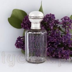 Dostojny flakon dp perfum - karafka kryształowa ze srebrnym korkiem