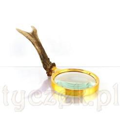 Elegancka lupa ręczna z wygodnym uchwytem naturalnym